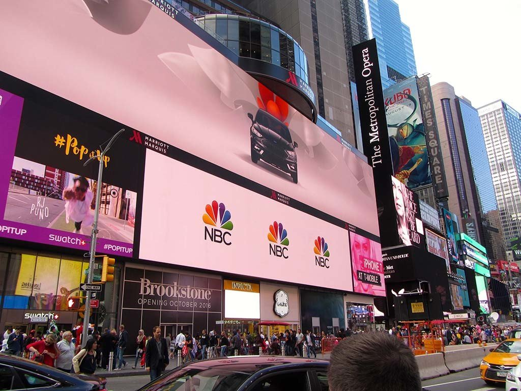 Am Times Square in New York City