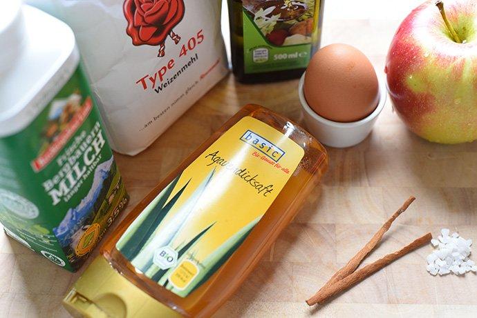 Zutaten für Apfelbeignets