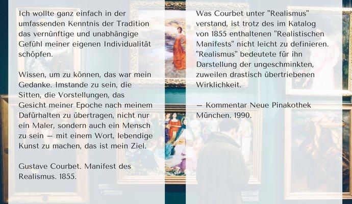 Courbet Zitat | Münchner Bildergespräch