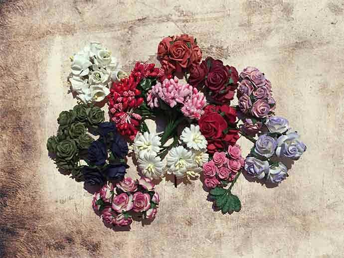 Blumen für Haarschmuck