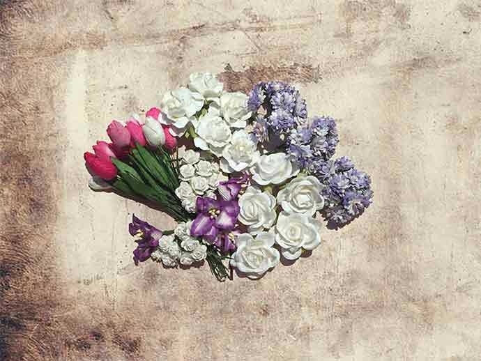 Blumen für Blumenkranz